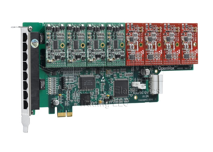A800 Analog Card - Openvox 8Ports FXO/FXS PCI Express card
