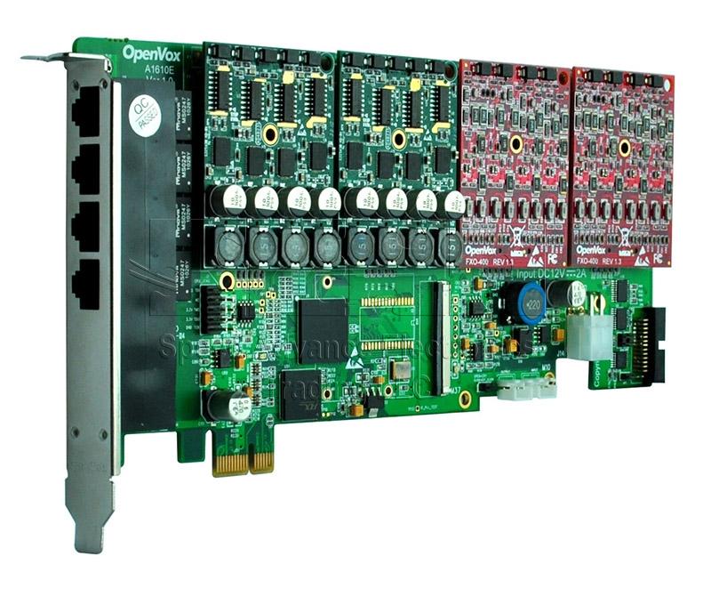 A1610 Anlog Card - Openvox 16 Ports Aanalog PCI Express Card