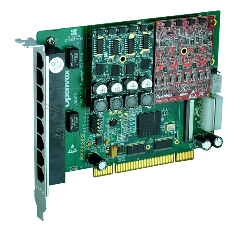 A810 Analog Card - OpenVox 8 Ports Aanalog PCI Card