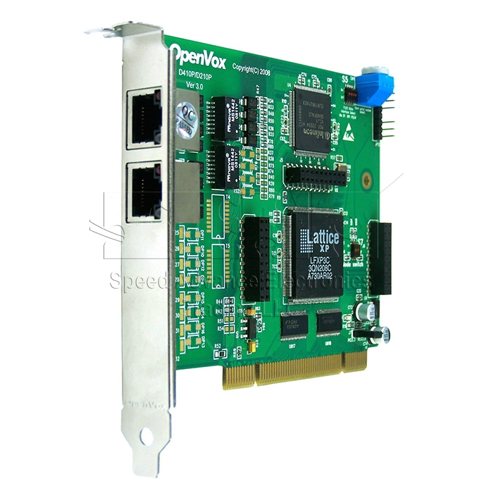 D210 Digital Card - OpenVox D210 2-E1 Digital PCI Card
